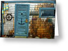 Fishing Hut At Rockport Maritime Greeting Card