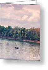 Fishing In Autumn Greeting Card by Jai Johnson