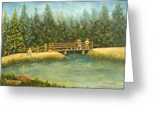Fishing In New England Greeting Card