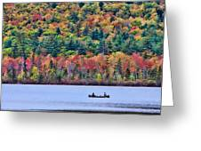 Fishing In The Fall Colors On Lake Chocorua Greeting Card