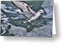 Fishing In The Foam Greeting Card