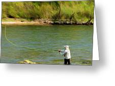 Fishing Lake Taneycomo Greeting Card
