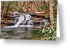 Fishing Mill Creek Falls In West Virginia Greeting Card