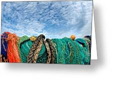 Fishing Nets And Alto-cumulus Clouds Greeting Card