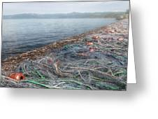 Fishing Nets To Dry Greeting Card