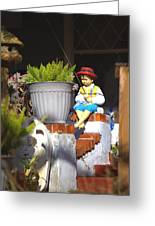 Fishing Off The Front Porch Greeting Card