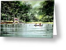 Fishing On Lazy Days - Aucilla River Florida Greeting Card