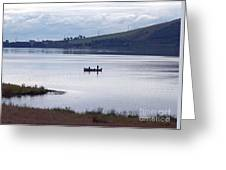 Fishing On Loch Leven Greeting Card