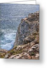 Fishing On The Cliffs Greeting Card