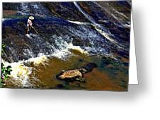 Fishing On The South Fork River Greeting Card
