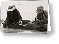 Fishing On Tonle Sap Greeting Card