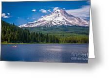 Fishing On Trillium Lake Greeting Card