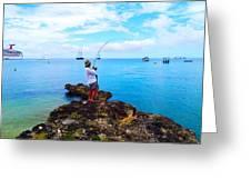 Fishing Paradise Greeting Card