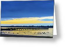 Fishing Pier At Sunset Greeting Card
