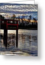 Fishing Pier Sunset  Greeting Card