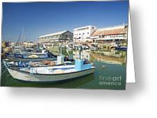 Fishing Port In Jaffa Tel Aviv Israel Greeting Card