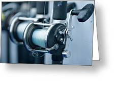 Fishing Reels On A Charter Boat Greeting Card
