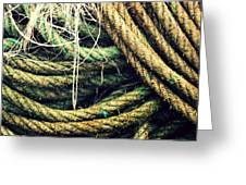 Fishing Rope Textures Greeting Card