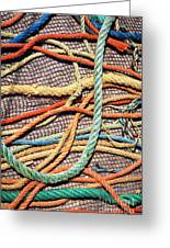 Fishing Ropes And Net Greeting Card
