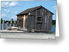 Fishing Shack On The Mystic River Greeting Card