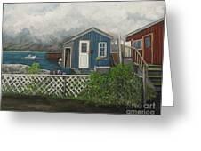 Fishing Shacks Alaska Greeting Card by Reb Frost