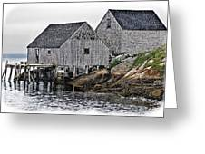 Fishing Sheds At Peggy's Cove Greeting Card