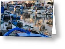 Fishing Ships In Grado Greeting Card
