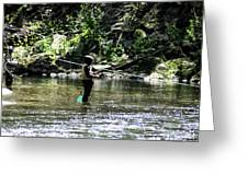 Fishing The Wissahickon Greeting Card