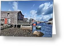 Fishing Town Greeting Card