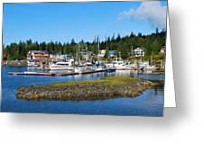 Fishing Village Alaska Greeting Card
