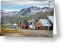 Fishing Village In Iceland Greeting Card