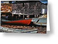 Fishing Village Greeting Card