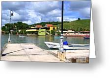 Fishing Village Puerto Rico Greeting Card