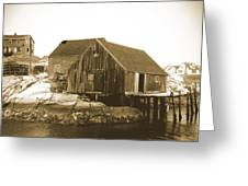 Fishing Wharf At Peggy's Cove Greeting Card