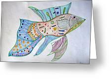 Fishstiqueart 2009 Greeting Card by Elmer Baez
