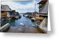 Fishtown Leland Michigan Greeting Card