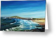 Fistral Bay Cornwall Greeting Card