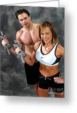 Fitness Couple 17-2 Greeting Card