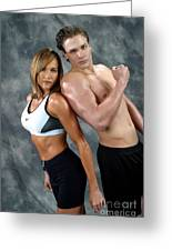 Fitness Couple 43 Greeting Card