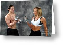 Fitness Couple 9 Greeting Card
