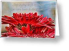 Fitting In By Diana Sainz Greeting Card