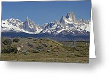 Fitz Roy Range In Springtime 2 Greeting Card