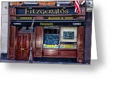 Fitzgeralds Pub - Dublin Ireland Greeting Card