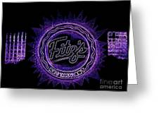 Fitz's In Purple Neon Greeting Card