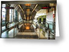 Fiumicino Airport Escalator Greeting Card