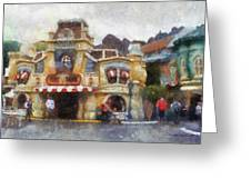 Five And Dime Disneyland Toontown Photo Art 02 Greeting Card