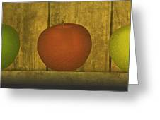 Five Apples  Greeting Card