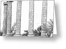 Five Columns Sketchy Greeting Card