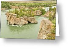 Five Finger Rapids Rocks Yukon River Yt Canada Greeting Card