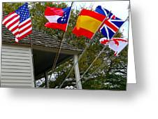 Five Flags Greeting Card